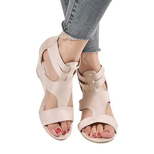 993dcaecd6c2 Fuibo Sandals Confortevoli Estate Beach Shoes Fashion Summer Womens Sandals  Wedges Retro Casual Shoes Strap Gladiator