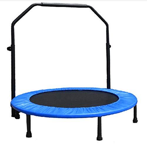 Trampolin Mit Armlehnen Outdoor-Fitness Für Erwachsene Abnehmen Sprungbett Gartensport-Trampolin Kann 200 Kg Tragen (Color : Blue)