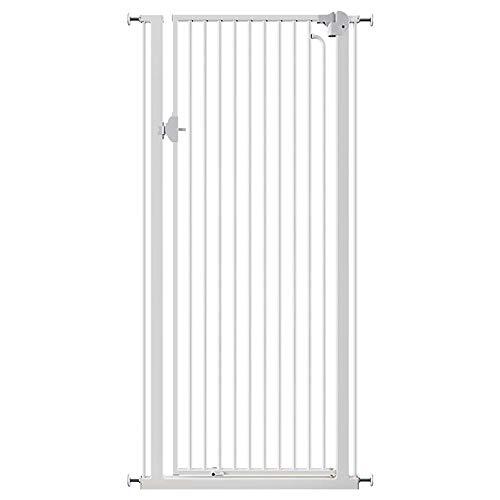 Barrières MAHZONG Super Haute Porte pour Animaux de Compagnie 150 cm x 66-110 cm - Blanc (Taille : 150 * 102-106cm)