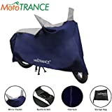 Mototrance Sporty Blue Bike Body Cover For Hero Glamour