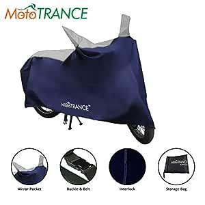 Mototrance Sporty Blue Bike Body Cover For Universal