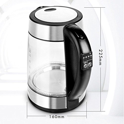 GPC Electric Kettle Glass Transparent Color 1850W 1.7L Automatic Power off Insulation Home Travel Electric Kettles