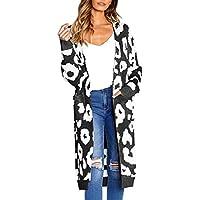 Damen Strickjacke,Geili Mode Frauen Leopard Print Langarm Strickjacke T-Shirt Tops Sweater Mantel Bluse mit Tasche... preisvergleich bei billige-tabletten.eu