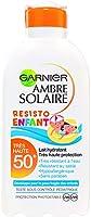 Garnier - Ambre Solaire - Resisto - Lait Enfant FPS 50+ - Peaux sensibles - Protection solaire très haut indice