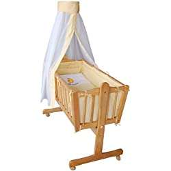 Honey Bee – Completa mecedora, cama, cuna para bebés - amarillo - 51365-02