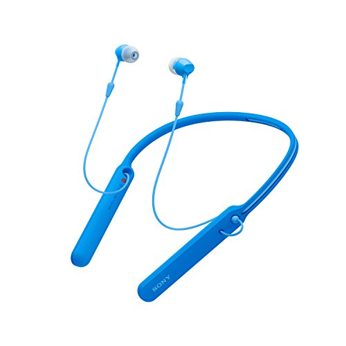 Sony WI-C400 Wireless Bluetooth Neckband in-Ear Headphones with Mic, 20 Hours Battery Life, with Light Weight and with 1 Year Warranty - Blue Image 2
