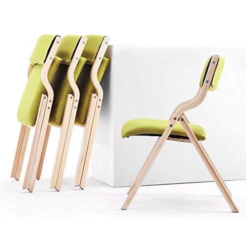AG Home Stuhl Hocker Klappstuhl Klappstuhl Massivholz mit bequemer Rückenlehne Lounge-Stühle für Esszimmer Küche Wohnzimmer Büro,Grün,