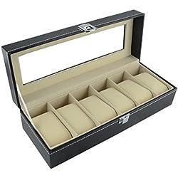 DoubleBlack Uhrenbox für 6 Uhren