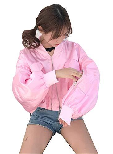 Bomberjacke Damen Kurz Fashion Normallacks Longsleeve Jacket Freizeit Unikat Style Herbst Elegante Mädchen Trend Loose Boyfriend...