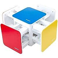 LG GL Rainbow Rubik - Taburete de combinación, Creativo y diversificado para la casa, para Viajes, Picnic, portátil, Plegable, 1 Mesa 4 Taburete