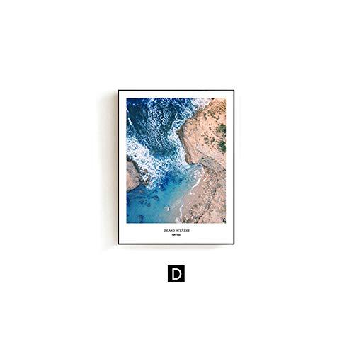 zxddzl Mediterrane minimalistische Landschaft Veranda Gemälde Großhandel einfache Moderne dekorative Malerei Wohnzimmer 30 * 40cm