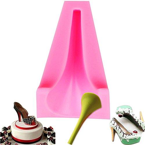 Molde silicona 3D tacón alto zapatos mujer decoración