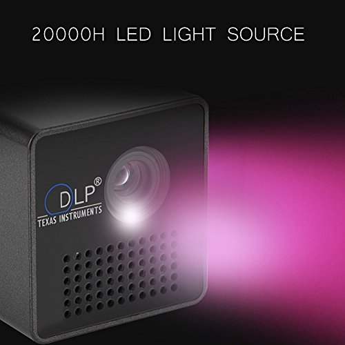 Eboxer Projector Mini DLP Portable Projector Pocket LED DLP Micro Multimedia Video Projector  800 1  7-40in Image Build-in Speaker Support TF Card  Ideal for Home Theatre Games Outdoor and Camping