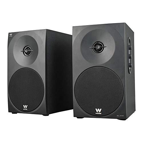 Woxter DL-410 - Altavoces estéreo 2.0 (autoamplificados con 150W de potencia, madera,...