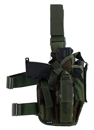 Tactical Drop Leg Gun Right Hand - Large (Tippmann Airsoft Gun)