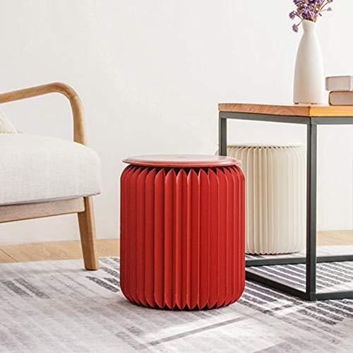 CZWYF Tabouret Pliant Creative Porte Changement Banc Porte Porte Mode Porche Canapé Tabouret Table Basse Tabouret Tabouret Orgue Meubles / 12.6x12.6x13.7inches (Color : Red)