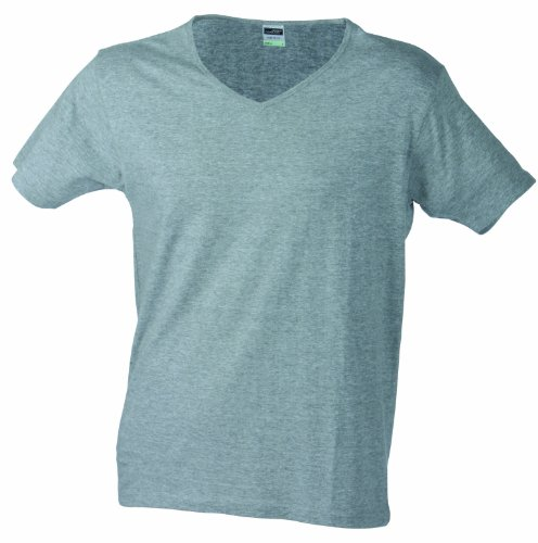 JAMES & NICHOLSON T- T-Shirt Slim Fit V-Neck T- Homme