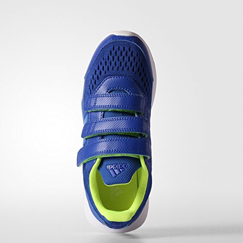 adidas , Chaussures d'athlétisme pour garçon noir Bleu / citron vert / blanc