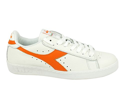 Diadora Unisex-Erwachsene Game L Low Waxed Pumps, 36 EU White Tropical Orange