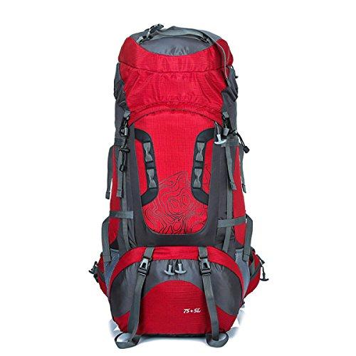 60l Wandern Rucksack Daypack Klettern Reisen Rucksack Casual Bag,Blue Red