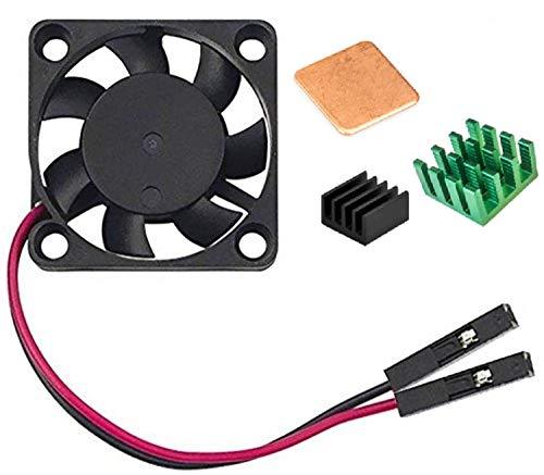 Easycargo Raspberry Pi Refroidisseur de Ventilateur de Refroidissement kit de dissipateur Thermique pour Raspberry Pi 3B +, 3B, Pi 2, Pi Model B + Green 1-Pack