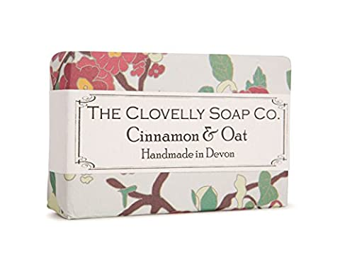 Clovelly Soap Co Natural Handmade Cinnamon & Oat Soap Bar For All Skin Types 100g
