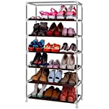 SR 6-Layer Shoe Rack Stand Shoe Protected from Weather & Dust(Grey)