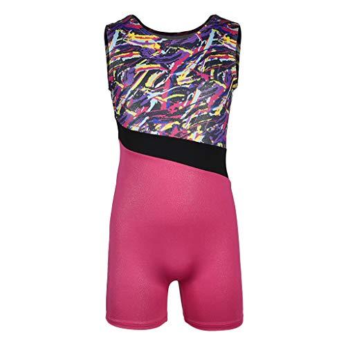 Baoblaze Kinder Mädchen Sleeveless Trikot Bodysuit Dancewear Kostüme -