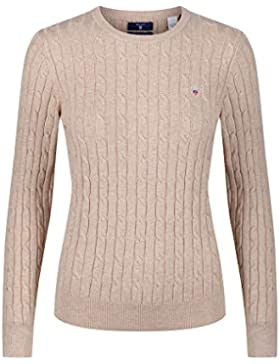 Gant Stretch Cotton Cable Crew, Jersey Para Mujer