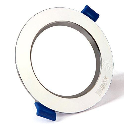Splindg 3-Zoll-5W LED-Deckenleuchten Einbaudownlight Aluminium Material Spotlight Hohe Transmission Panel Licht Innenbeleuchtung Fixture (Color : Cold White, Größe : 3In 5W) (Glühlampen-einbauleuchten Fixture)