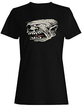 Criatura mítica divertida del diablo de la fe del monstruo camiseta de las mujeres ss26f