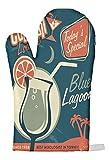 LEotiE SINCE 2004 Ofen Topf Handschuh Nostalgie Alkohol Retro Blaue Lagune Bedruckt