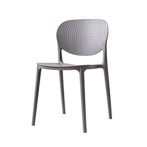 ZIJUAN Esszimmerstühle, Raumküchen-Patios Feste Plastikgrünstühle Einfacher Bequemer Praktischer Stapel Für Die Lagerung Ideal Für BBQ-kampierende Versammlungen (Color : Gray) -