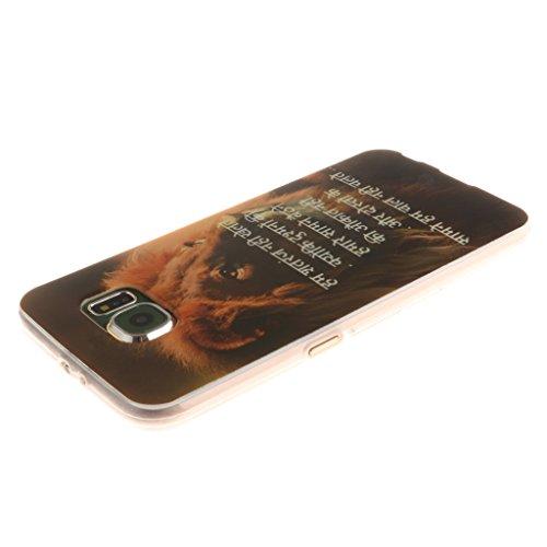 PowerQ Bunte Muster Serie Malerei Druck TPU Case Fall Hülle Etui < Big Red flower - für IPhone 5S 5 5G SE IPhone5S IPhoneSE >           Zeichnung Tasche weiche Silikon Abdeckung Soft Silicone Cover Handytasche Sunset Lion