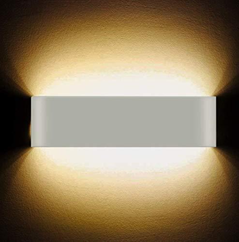 LED Wandleuchten 12W High Bright Modern Wandleuchte Innen Wandbeleuchtung Beleuchtung Wandlampe Flur Treppen Hotels Lichter, warmes weißes Licht -