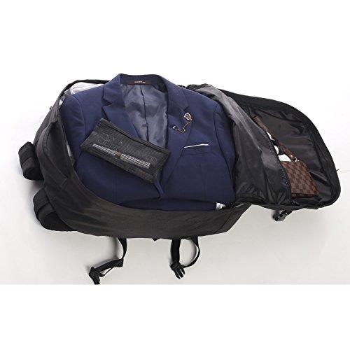 Aerolite Max Zaino 55x40x20 cm Ryanair Cabin Approvato bagaglio a mano / Carry on (2 x nero) nero