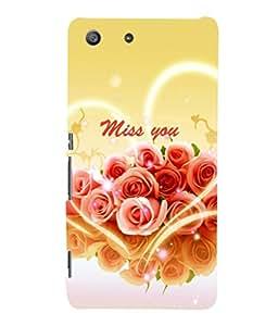 printtech Flower Miss You Love Back Case Cover for Sony Xperia M5 Dual E5633 E5643 E5663:: Sony Xperia M5 E5603 E5606 E5653
