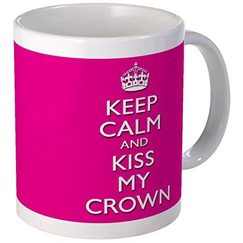 CafePress Einzigartige Tasse Festzug Prinzessin Tasse–Kiss my Krone–S Weiß, keramik, Weiß, Größe S (Becher Festzug)