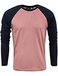 Mens T Shirt by Brave Soul 'Osbourne' Crew Neck Long Sleeved Top S-XL