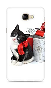 Amez designer printed 3d premium high quality back case cover for Samsung Galaxy A9 (Christmas Cat 2)