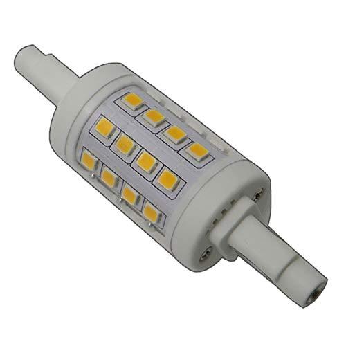 1x R7s LED Strahler 78mm rund 6 Watt dimmbar 32x SMDs warmweiß Leuchtmittel Lampe Halogen Stab j78 Fluter Standleuchte Brenner Scheinwerfer