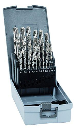 alpen HSS Cobalt Spiralbohrer, kurz, DIN 338 RN, Durchmesser 1-13 x 0,5 mm als 25-teiliger Satz in der Kunststoffkassette, 102225100