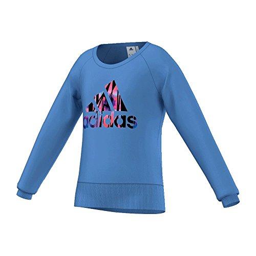 Adidas Ward Robe Style felpa-Bambini-Lucky Blue, lucky blue, 140