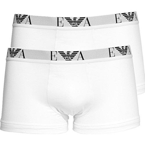 Emporio Armani Intimates Herren Boxershorts 111210CC715 2 x weiß white