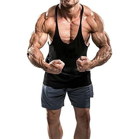 Musclealive Uomo Culturismo 1 centimetro larghezza Strap Singlets Canotta elastico