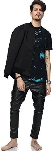 Pizoff Unisex Hip Hop Urban Basic Langes T Shirts mit Tarnmuster Y1726-05
