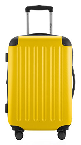 HAUPTSTADTKOFFER® 49 Liter Handgepäck · SPREE · TSA · MATT · NEU 4 Doppel-Rollen · (in 12 Farben) + LogiLink® Flugzeug Audio Adapter (Cyan Blau) Gelb