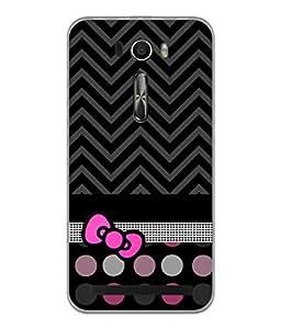 Fuson Designer Back Case Cover for Asus Zenfone Selfie ZD551KL (Yellow Flower Checks Lines Stars)