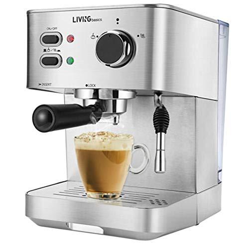 Espresso-Cappuccino-Maschine, Latte Mokka Und Milchschaum Arm Home Office (Silber) - Home-espresso-cappuccino-maschine
