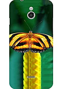 AMEZ designer printed 3d premium high quality back case cover for Infocus M2 (Butterfly)